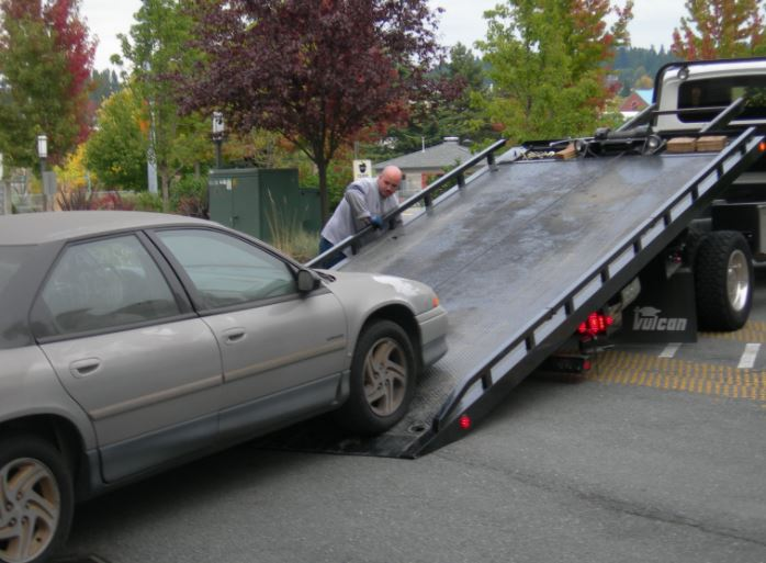 Flatbed-towing